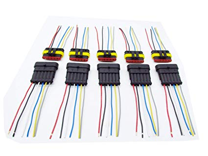 Fine Amazon Com Cnkf 5 Sets 6 Pin Amp Male Female Superseal Car Wiring Cloud Onicaalyptbenolwigegmohammedshrineorg