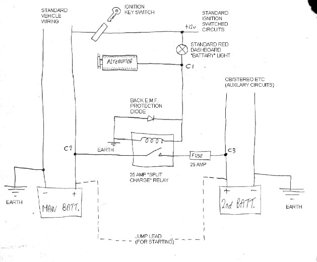 12v Split Charge Relay Wiring Diagram - Wiring Diagram