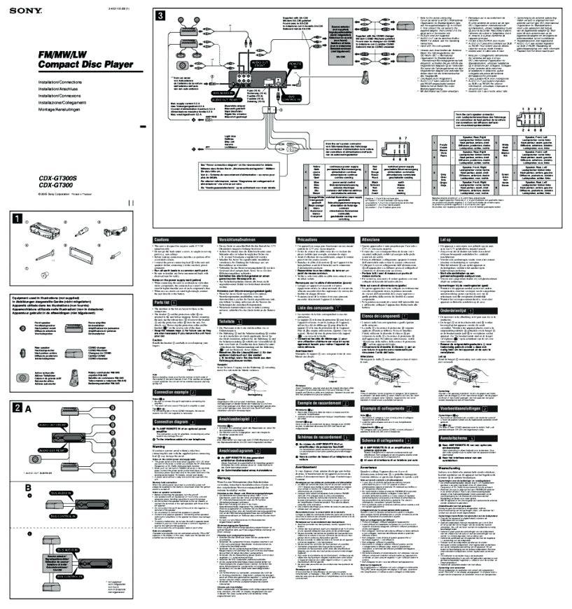 sony xplod cdx gt300 wiring diagram color  89 chrysler