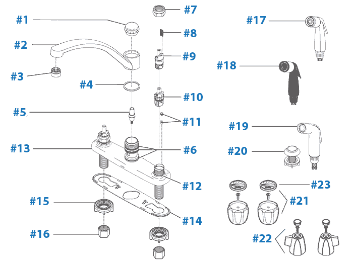 Repairs Delta Kitchen Faucet Parts Diagram