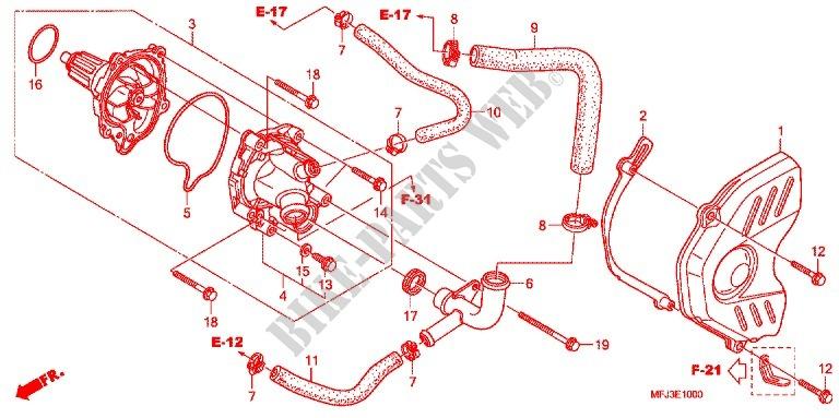 Strange Water Pump Engine Cbr600Rr7 2007 Cbr 600 Moto Honda Motorcycle Wiring Cloud Cranvenetmohammedshrineorg
