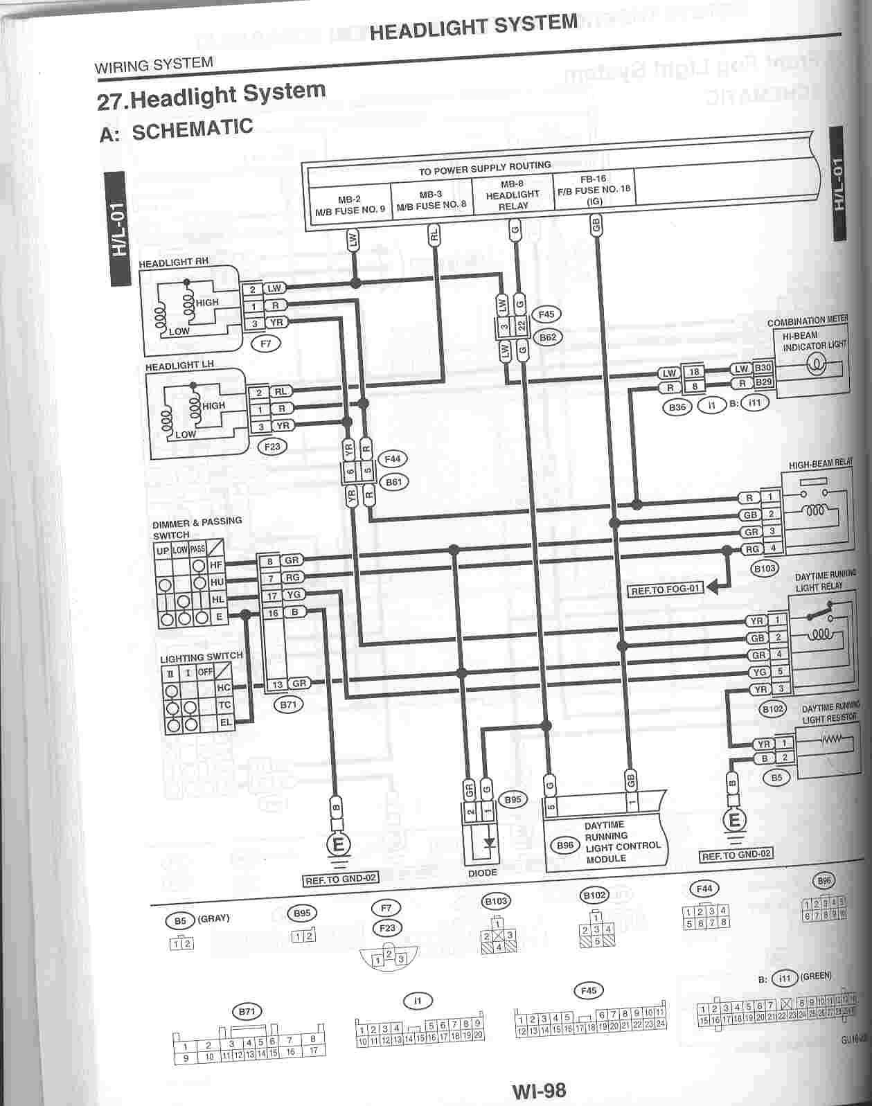 Subaru Headlight Harness Bauer Compressor Wiring Diagram Begeboy Wiring Diagram Source