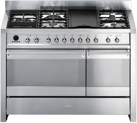Cool Smeg A3Xu6 Opera Series 48 Inch Dual Fuel Freestanding Range In Wiring Cloud Staixaidewilluminateatxorg
