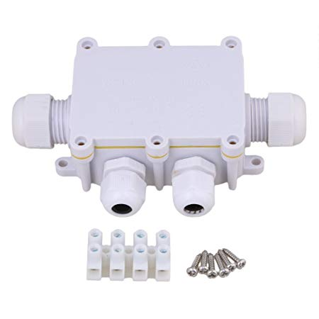Remarkable White 4 Way Outdoor Cable Wire Connectors Junction Box Ip68 Wiring Cloud Itislusmarecoveryedborg