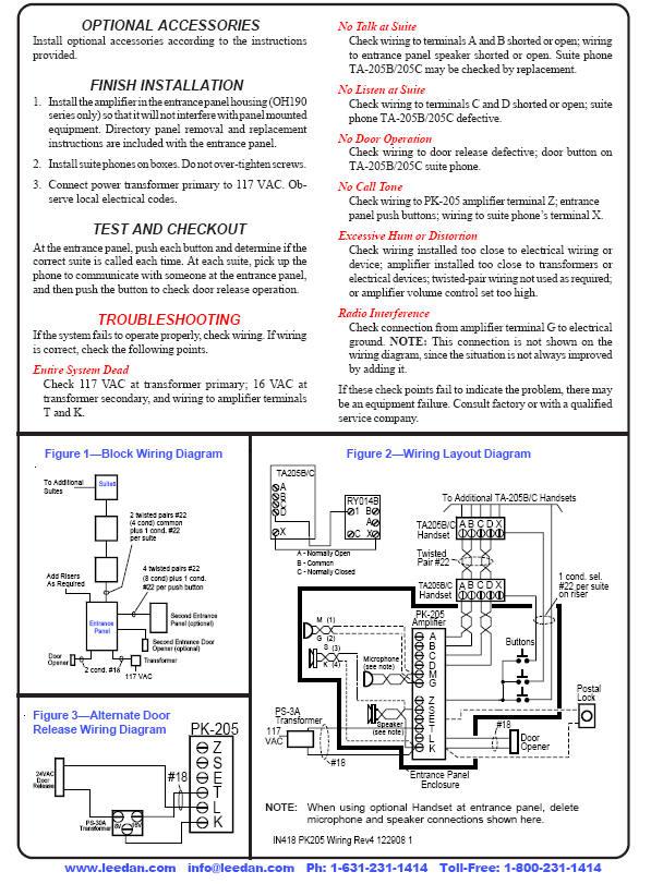 og9283 intercom wiring instruction diagram schematic wiring