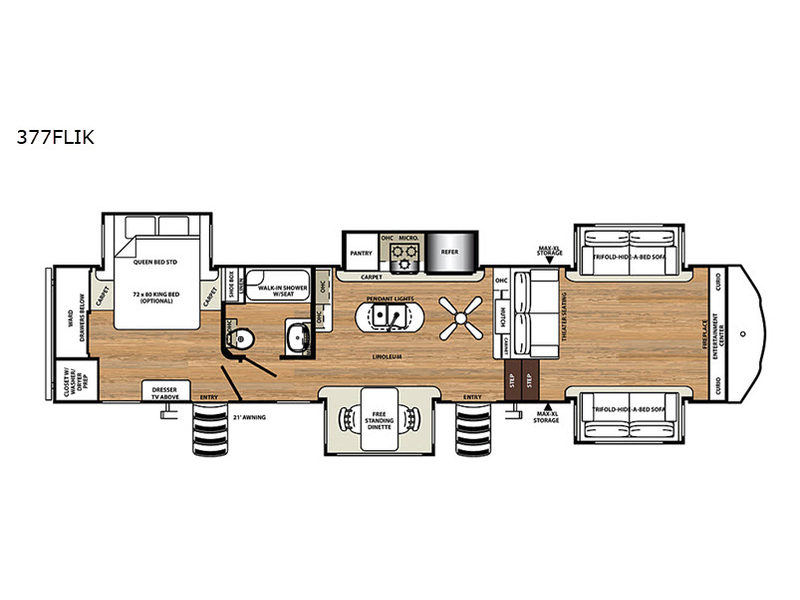 Fine New 2019 Forest River Rv Sandpiper 377Flik Fifth Wheel At Hanner Rv Wiring Cloud Eachirenstrafr09Org