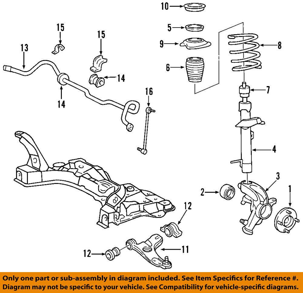 Ford Focus Front Wheel Hub Bearing 2000-2010
