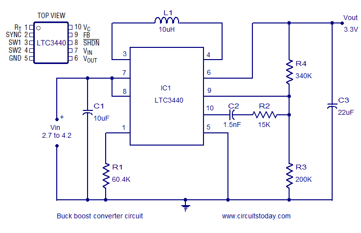 Super Buck Boost Converter Using Ltc3440 For An Output Voltage Of 3 3 Volts Wiring Cloud Domeilariaidewilluminateatxorg