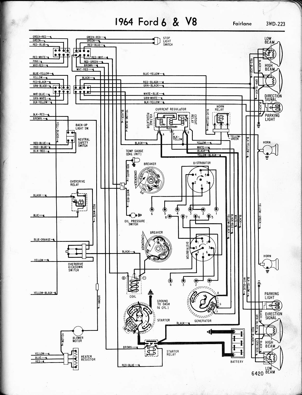 1967 ford thunderbird wiring diagram ob 5628  ford f100 wiring diagram for a truck car electrical  ob 5628  ford f100 wiring diagram for a