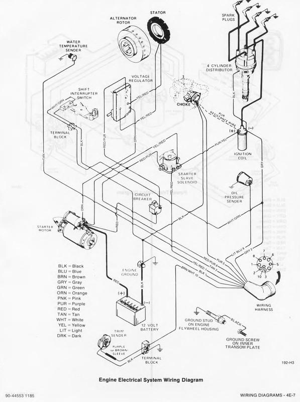470 mercruiser engine wiring diagram  wiring diagram cycle