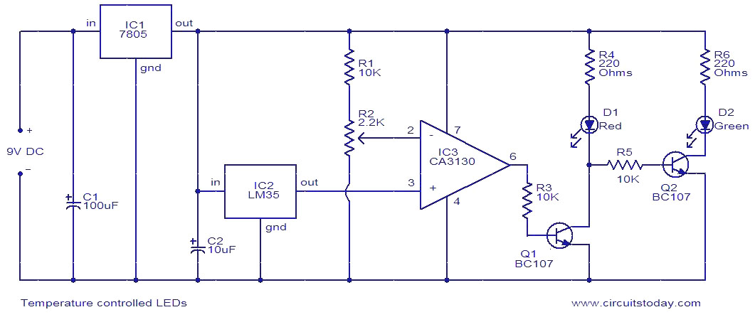 Peachy Temperature Controlled Leds Electronic Circuits And Diagrams Wiring Cloud Faunaidewilluminateatxorg