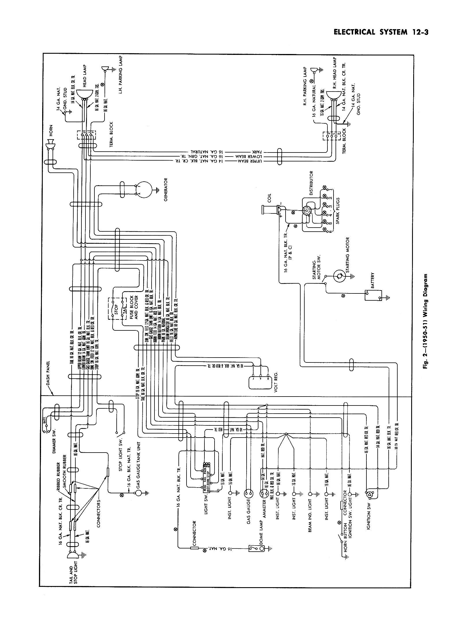Hz 7926 1951 Olds Wiring Diagram Schematic Wiring