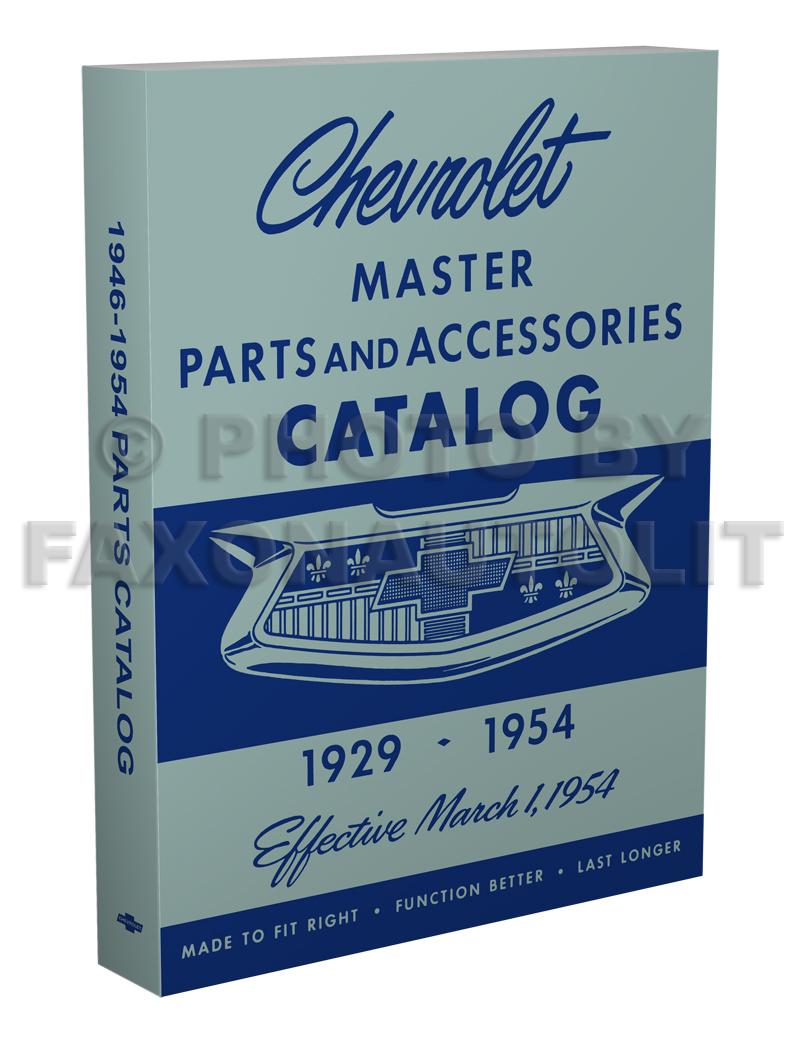 Astounding 1946 1954 Chevrolet Parts Book Reprint Wiring Cloud Hemtshollocom