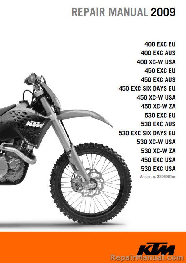 Astounding 2009 Ktm Motorcycle Service Manual 400 450 530 Exc Xc W Six Days Wiring Cloud Xempagosophoxytasticioscodnessplanboapumohammedshrineorg