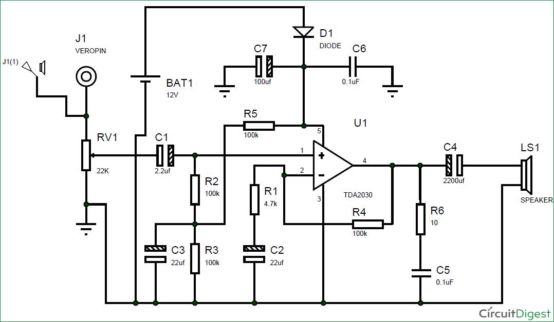 Wondrous Subwoofer Amplifier Circuit Diagram Using Ic Tda2030 Wiring Cloud Xempagosophoxytasticioscodnessplanboapumohammedshrineorg