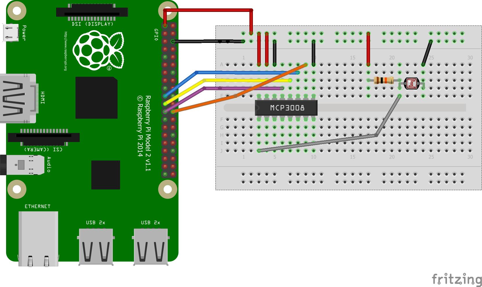 Brilliant Read An Ldr On The Raspberry Pi Using An Mcp3008 Pi Bits Wiring Cloud Itislusmarecoveryedborg