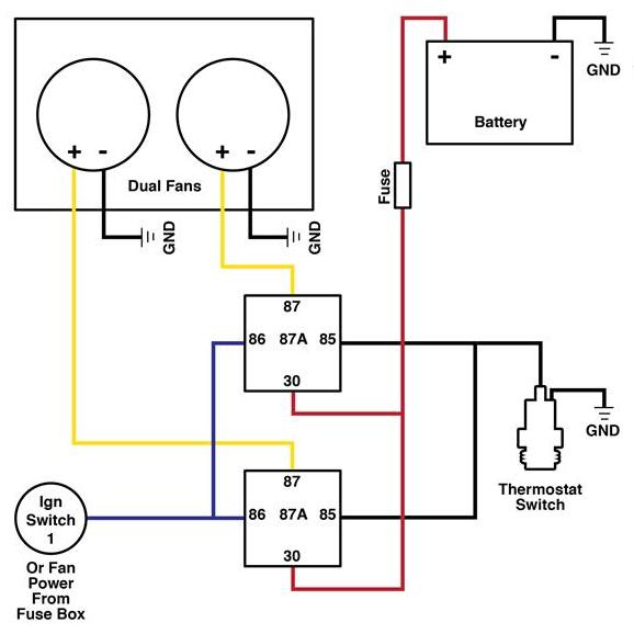 radiator cooling fan relay wiring diagram cg 3413  volvo cooling fan relay wiring on hayden fan relay wiring  cooling fan relay wiring on hayden fan