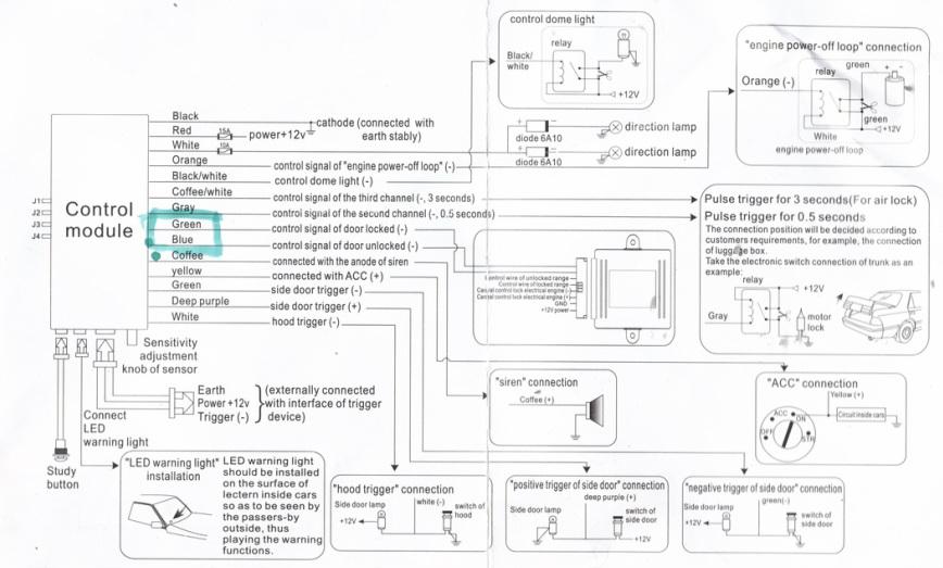 generic car alarm wiring diagram  merecedes fuel filter