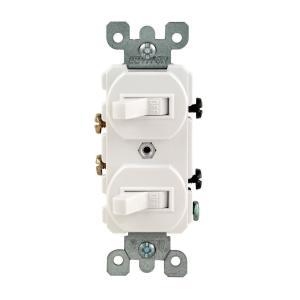 Marvelous Leviton Decora 15 Amp 3 Rocker Combination Switch White R62 01755 Wiring Cloud Uslyletkolfr09Org