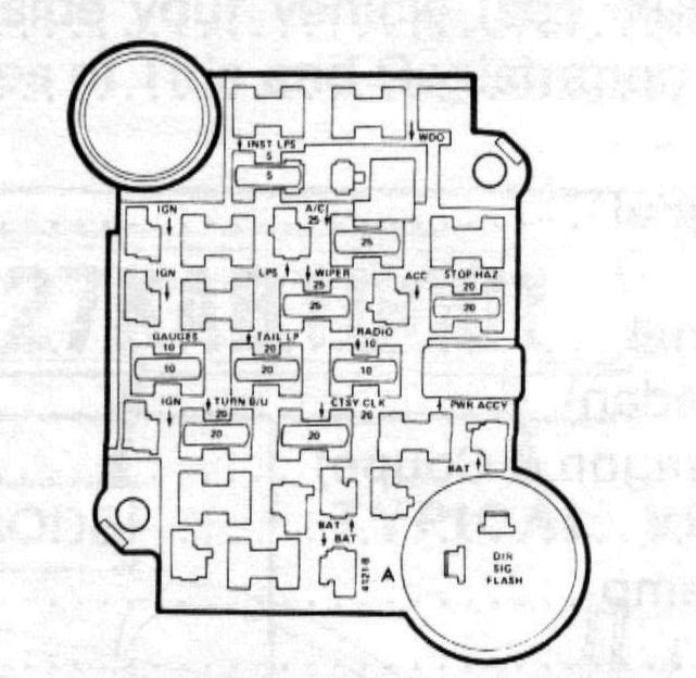 Ox 1631  79 Corvette Fuse Block Diagram Download Diagram