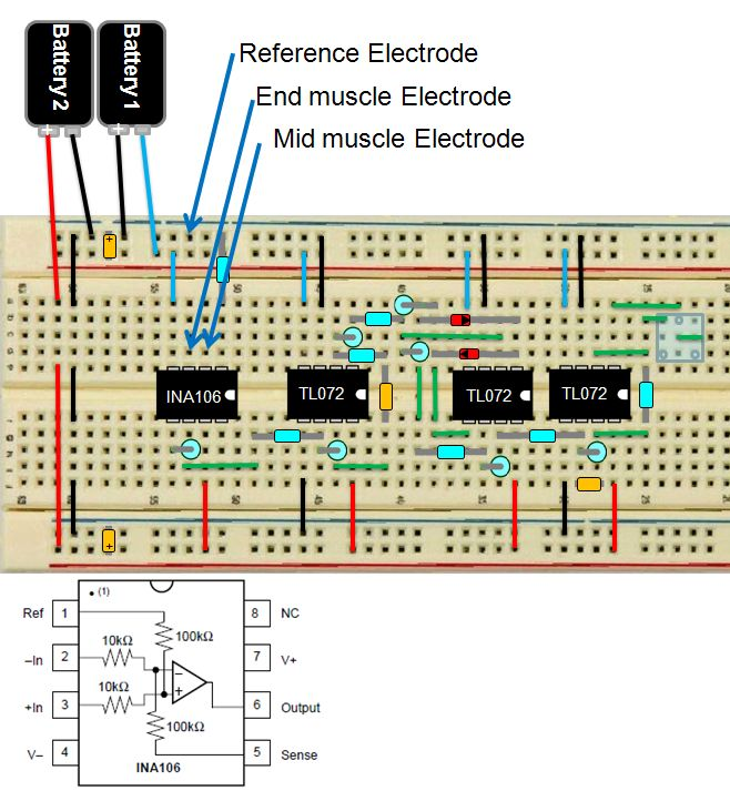 Enjoyable Diy Muscle Sensor Emg Circuit For A Microcontroller 13 Steps Wiring Cloud Mousmenurrecoveryedborg