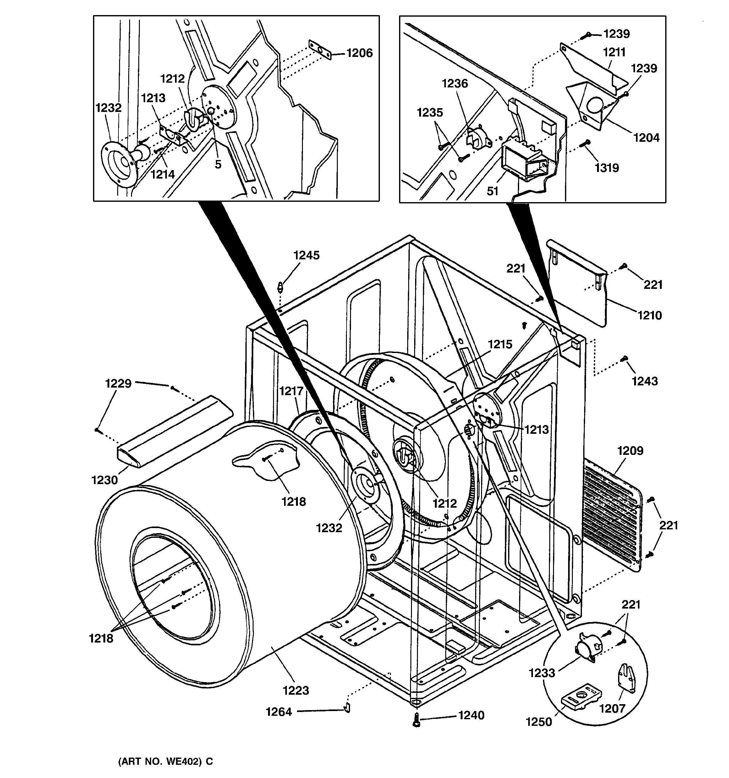 General Electric Dishwasher Parts Diagram