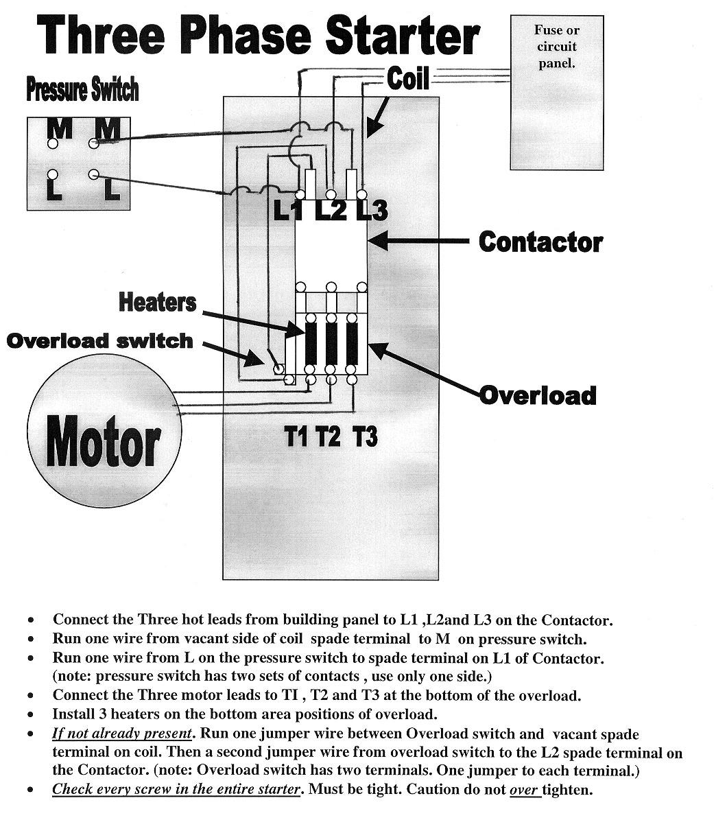 Nema Motor Starter Wiring Diagram