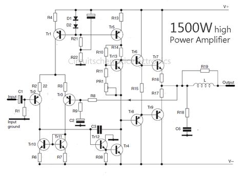 Groovy 2800W High Power Amplifier Circuit Electronic Circuit Basic Wiring Cloud Onicaxeromohammedshrineorg