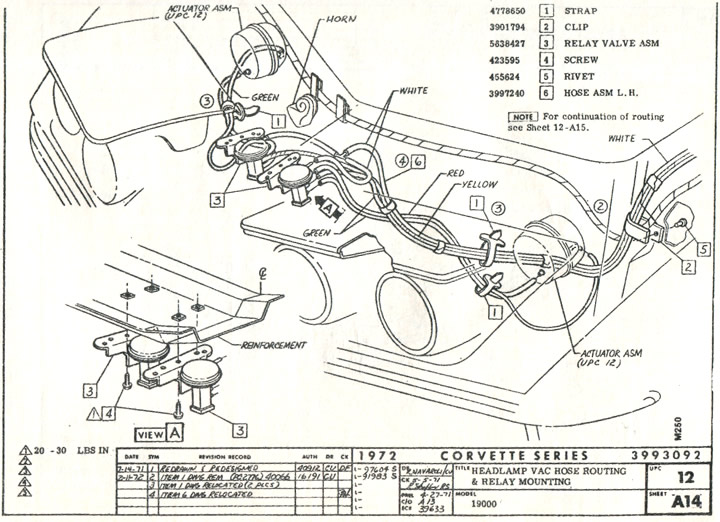 Gl 4854  Vacuum Diagram Chevy 350 Chevrolet Cars Trucks