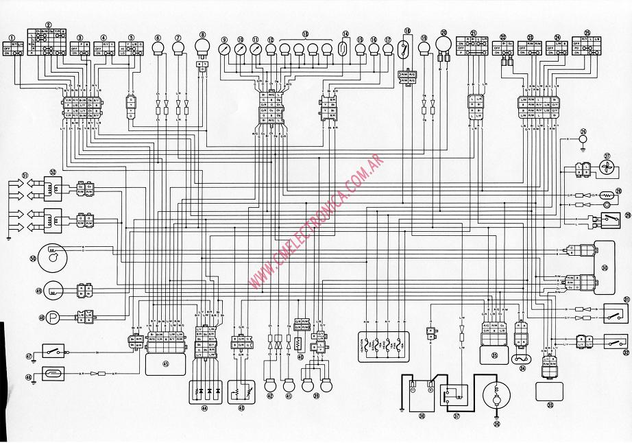 Bf 1347 Yamaha Bt1100 Electrical System And Wiring Diagram Schematic Wiring