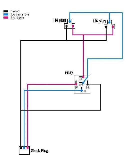 Sensational Motorcycle Headlight Relay Wiring Diagram Basic Electronics Wiring Wiring Cloud Domeilariaidewilluminateatxorg