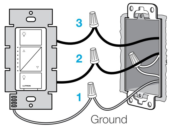 Incredible How To Install A Dimmer Switch From The Lutron Caseta Wireless Wiring Cloud Waroletkolfr09Org