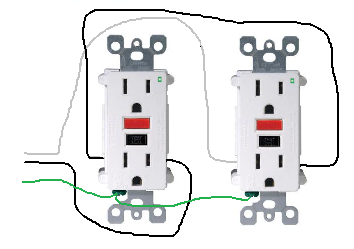 Peachy Electrical How Do I Properly Wire Gfci Outlets In Parallel Home Wiring Cloud Hisonepsysticxongrecoveryedborg