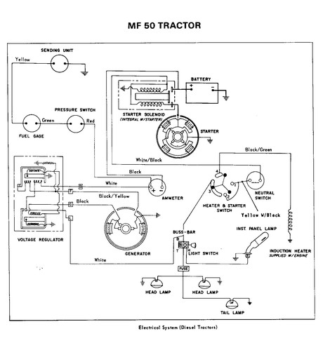 Massey Ferguson 175 Alternator Wiring DiagramWiring Database