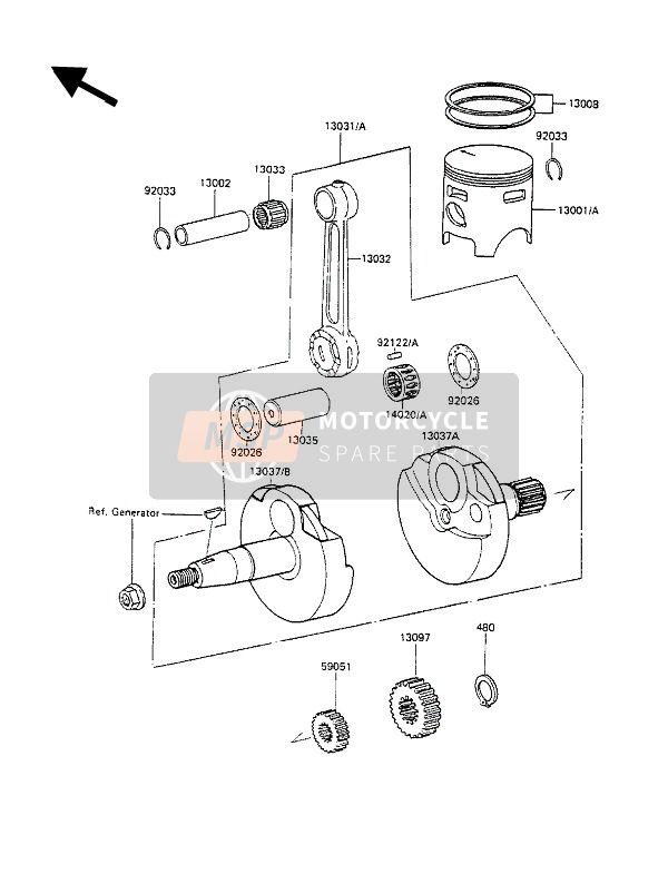 KX 100 1988-2016 Motorsimmerring Satz Kawasaki KX 80 Bj KX 85 ...