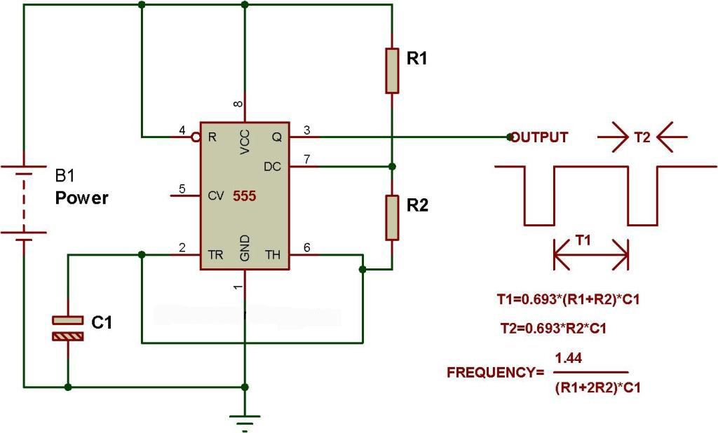 Admirable Astable Mode Of 555 Timer Buildcircuit Electronics Wiring Cloud Picalendutblikvittorg