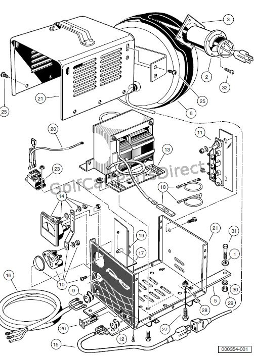 Zn 6899 Charger Powerdrive 2 Model 22110 Club Car Parts Accessories Download Diagram