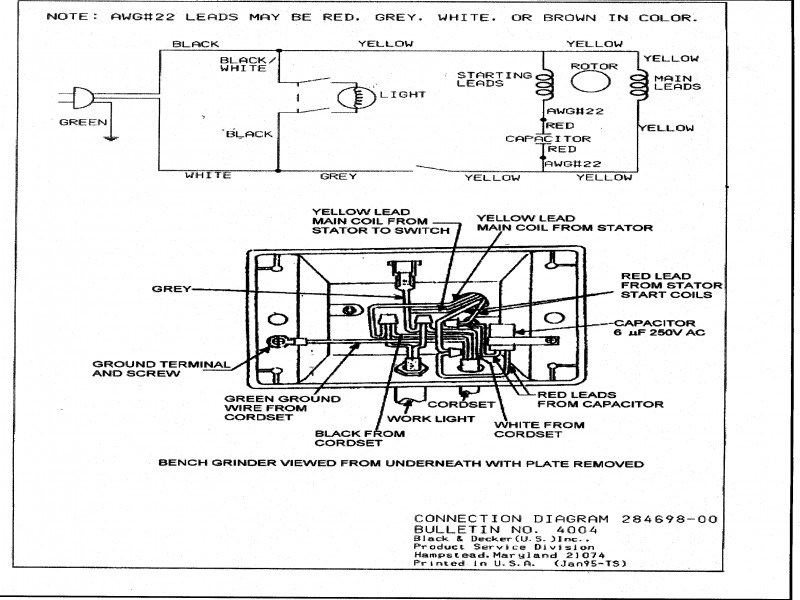 wiring diagram for a bench grinder  95 jeep cherokee engine