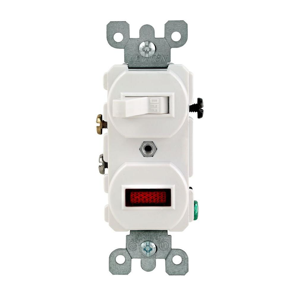 Fabulous Leviton 1 25W 125V Combination Switch With Neon Pilot Light White Wiring Cloud Ittabpendurdonanfuldomelitekicepsianuembamohammedshrineorg