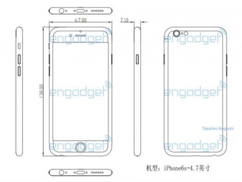 Prime Purported Schematic Suggests Iphone 6S Could Be Slightly Thicker Wiring Cloud Inklaidewilluminateatxorg