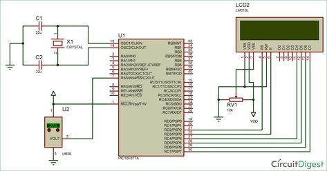 Astonishing Digital Thermometer Circuit Diagram Using Lm35 And Pic Wiring Cloud Timewinrebemohammedshrineorg