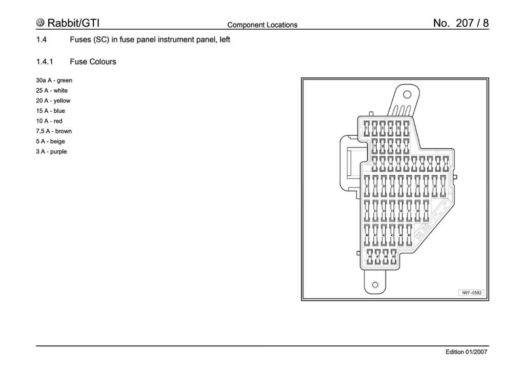 Fabulous 2008 Volkswagen Rabbit Fuse Box Diagram Basic Electronics Wiring Wiring Cloud Overrenstrafr09Org