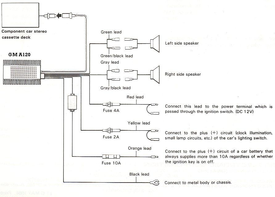 Pioneer Audio Wiring Diagram