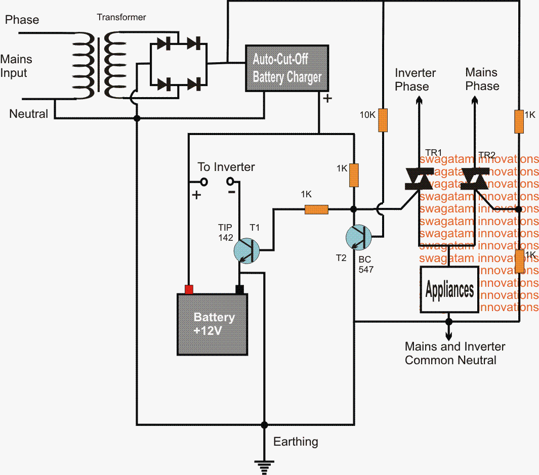 Prime Inverter Mains Ac Changeover Circuit Using Triacs Baterias In 2019 Wiring Cloud Intelaidewilluminateatxorg