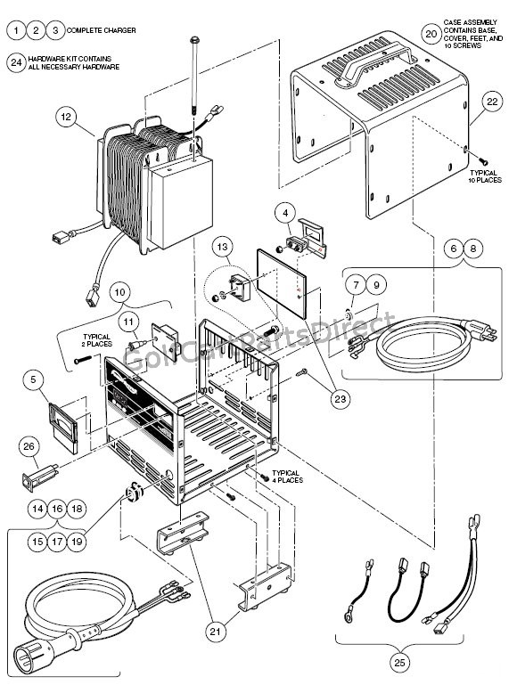 Lg 5083 Club Car 48v Wiring Diagram For Battery Pack