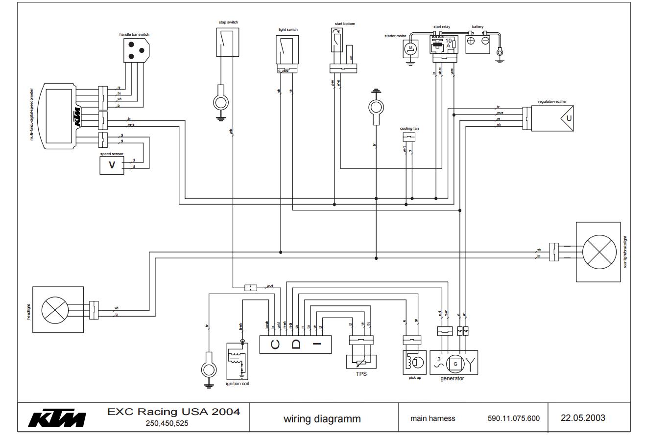 ktm headlight wiring diagram ktm exc wiring diagram wiring diagram data  ktm exc wiring diagram wiring diagram