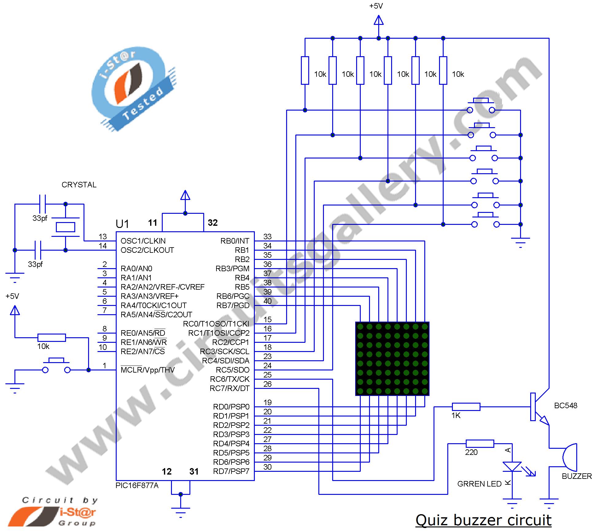 Brilliant Electronic Quiz Buzzer Circuit Diagram Using Pic Microcontroller Wiring Cloud Monangrecoveryedborg