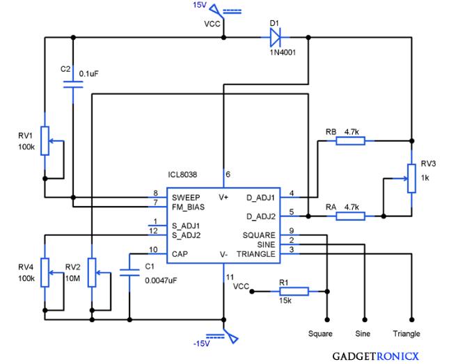 Sensational Function Generator Circuit Using Icl8038 Gadgetronicx Wiring Cloud Licukshollocom