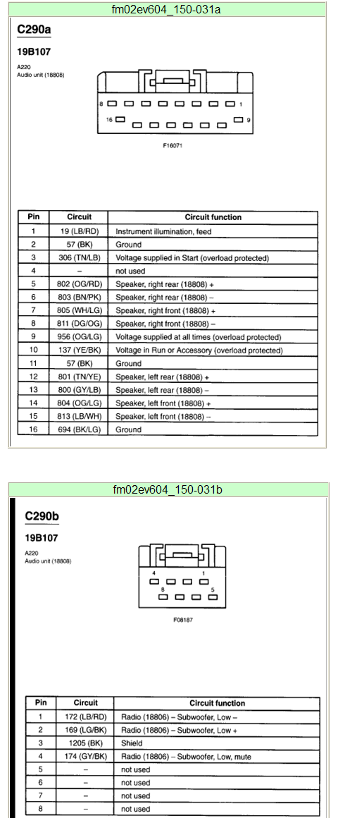 2002 ford mustang stereo wiring diagram  wiring diagram