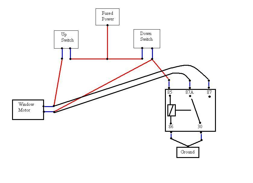Zo 4185 5 Pin Power Window Wiring Diagram Schematic Wiring